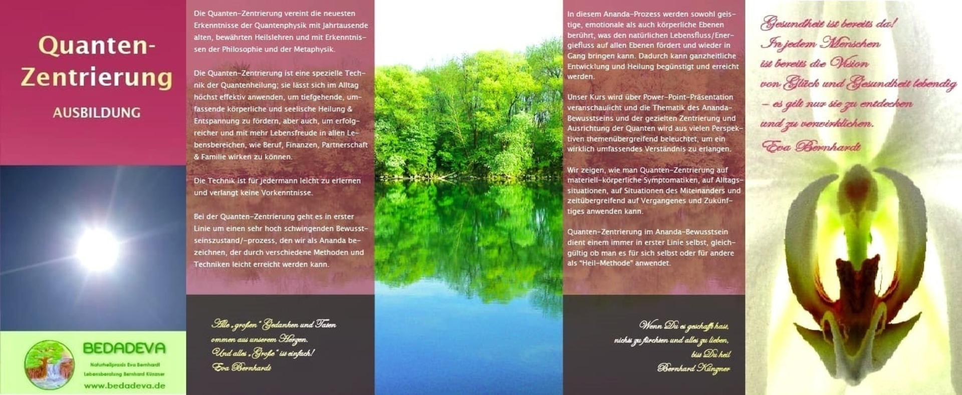 Quanten-Zentrierung (Ausbildung/Seminar) @ Praxis-Seminar-Zentrum BEDADEVA